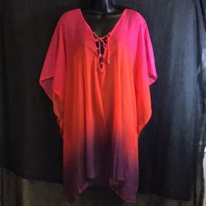 Ralph Lauren Pink/Purple/Orange Swimsuit Cover 2X